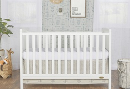 White - Springfield 3 in 1 Convertible Crib