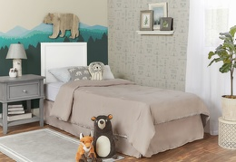White - Springfield Full Size Bed without footboard