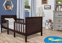 Espresso Hudson 3 in 1 Convertible Toddler Bed Roomshot 01