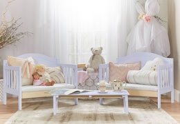 638 LI Lilac Portland 3 In 1 Convertible Toddler Bed 02