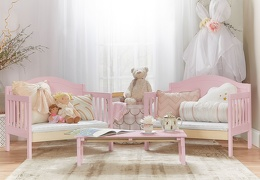 638 P Pink Portland 3 In 1 Convertible Toddler Bed 02