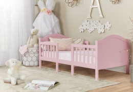Pink Portland 3 In 1 Convertible Toddler Bed 01
