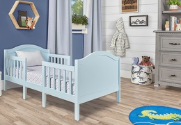 Sky Blue Portland 3 In 1 Convertible Toddler Bed 03