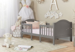 Steel Grey Portland 3 In 1 Convertible Toddler Bed 01