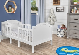 White Portland 3 In 1 Convertible Toddler Bed 03