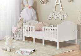 White Portland 3 In 1 Convertible Toddler Bed 01