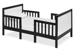 Black/White Hudson 3 in 1 Convertible Toddler Bed Silo 01 a