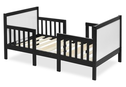 Black/White Hudson 3 in 1 Convertible Toddler Bed Silo 02