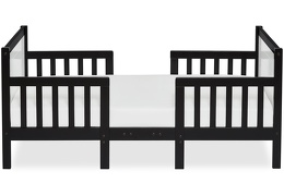Black/White Hudson 3 in 1 Convertible Toddler Bed Silo 03