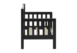 Black/White Hudson 3 in 1 Convertible Toddler Bed Silo 06