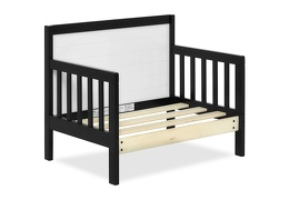 Black/White Hudson 3 in 1 Convertible Toddler Bed Silo 08