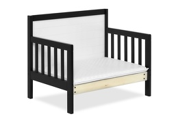 Black/White Hudson 3 in 1 Convertible Toddler Bed Silo 09