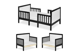 Black/White Hudson 3 in 1 Convertible Toddler Bed Silo Collage