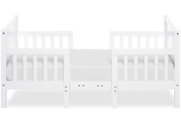 White Hudson 3 in 1 Convertible Toddler Bed Silo 03