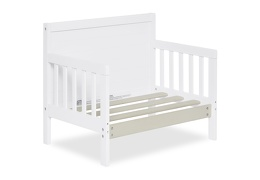 White Hudson 3 in 1 Convertible Toddler Bed Silo 09