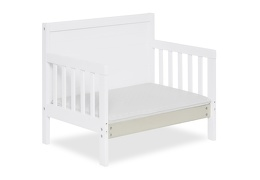 White Hudson 3 in 1 Convertible Toddler Bed Silo 10