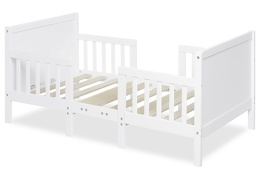 White Hudson 3 in 1 Convertible Toddler Bed Silo 02