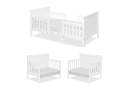 White Hudson 3 in 1 Convertible Toddler Bed Collage