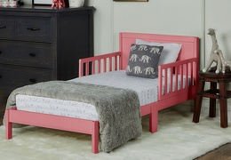 Brookside Toddler Bed RmScene ROSE