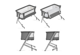 Skylar Bassinet & Bedside Sleeper in Grey Silo 10