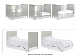 Cool Grey - Springfield 3 in 1 Convertible Crib Collage