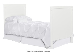 White - Springfield Full Size Bed with footboard Silo