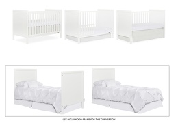 White - Springfield 3 in 1 Convertible Crib Collage