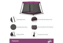 Plum Travel Light Play Yard Features