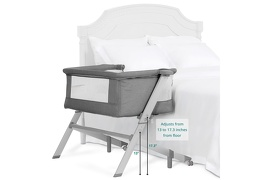 Skylar Bassinet & Bedside Sleeper in Grey Silo 03-1