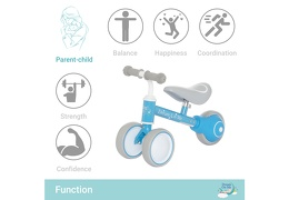 BLUE Cruiser Balance Bike Function