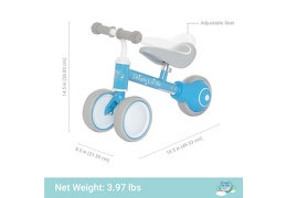 BLUE Cruiser Balance Bike Dimention