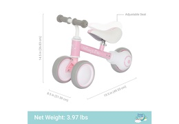 PINK Cruiser Balance Bike Dimention