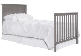 635-SGY Ava Full Size Bed with Footboard Silo