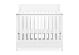 636-W Harbor 4 in 1 Convertible Mini Crib Silo 01