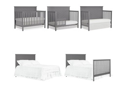 659-SGY Skyline 5 in 1 Convertible Crib Collage