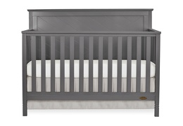 659-SGY Skyline 5 in 1 Convertible Crib Front Silo