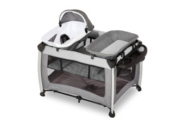 389-GREY Princeton Deluxe Nap 'N Pack Playard Silo 01