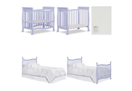 631-LI Violet/Piper 4 in 1 Convertible Mini Crib Collage