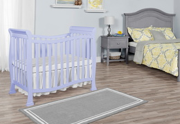 631-LI Violet/Piper 4 in 1 Convertible Mini Crib Room Shot