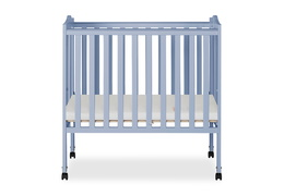 Dusty Blue 2 in 1 Lightweight Folding Portable Crib Silo 01