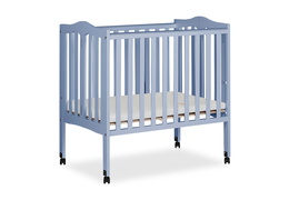 Dusty Blue 2 in 1 Lightweight Folding Portable Crib Silo 02