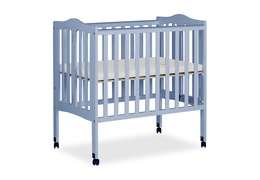Dusty Blue 2 in 1 Lightweight Folding Portable Crib Silo 03