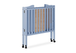 Dusty Blue 2 in 1 Lightweight Folding Portable Crib Silo 04
