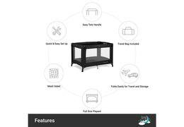 436-BLK Nest Portable Playard Features