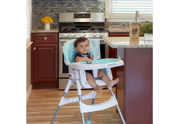 244-AQUA Portable 2 in 1 Tabletalk High Chair RmScene Baby