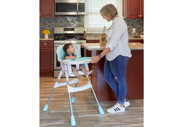244-AQUA Portable 2 in 1 Tabletalk High Chair RmScene