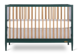 670-OLIVE Clover 4-in-1 Modern Island Crib With Rounded Spindles Front Silo