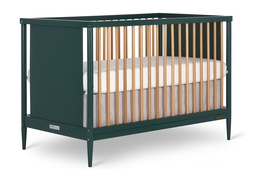 670-OLIVE Clover 4-in-1 Modern Island Crib With Rounded Spindles Side Silo