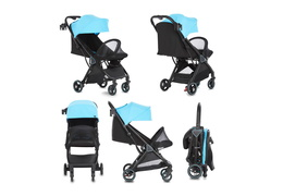520-BLUE Insta Auto Fold Stroller Collage 01