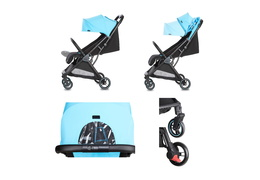 520-BLUE Insta Auto Fold Stroller Collage 02
